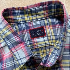 Untuckit Plaid Summer Shirt Size Large